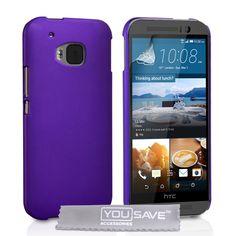 YouSave HTC M9 Hard Hybrid Case - Purple   Mobile Madhouse