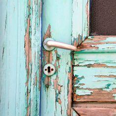 Wooden, old door in Cretan village #blue #crete #lovecrete #menwhileincrete #village