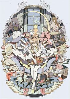 Sakura Kinomoto and Kero Manga Anime, Anime Art, Otaku, Sakura Kinomoto, Sakura Card Captor, Haruhi Suzumiya, Xxxholic, Fanart, Clear Card