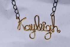 Bridal Party Name Necklaces by JenBeeCardCo on Etsy, $19.00