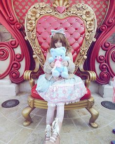 (。ò ∀ ó。)We had a good time yesterday#disneyland #lolitafashion #angelicpretty #sweetlolita
