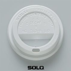 """Solo Traveller Lid: The ubiquitous plastic lid, patented by Solo and featured in the 2004 MOMA exhibition, """"Humble Masterpieces""""."""