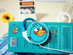 Наушники Angry Birds круглые синие