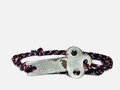 Rope Bracelet, American, Black Red and Blue