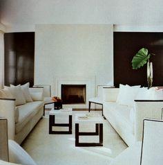 Winter white interior design