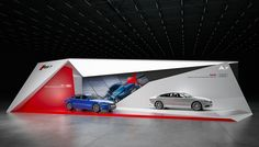 Audi stand by Nazar Malets (on Behance)