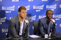 blake griffin and chris paul, post-game. 4/20/13