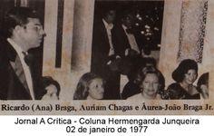 Ricardo Braga, Auriam Chagas e Áurea-João Braga Jr. Coluna Hermengarda Junqueira do A Crítica de 02 de janeiro de 1977
