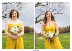 Bridesmaid Dresses, Bridesmaid Flowers, Bridesmaid Bouquets, Yellow Dress, Summer Wedding, Wedding Day Details www.evaimage.com