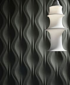 moderne Wandverkleidung in schwarz