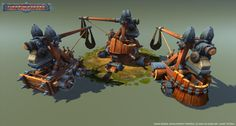 Siege Weapons Pack Low Poly - 3d model - CGStudio