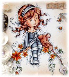 Skin: E000, E00, E21, E11, R20 Hair: E21, E25, E29 Outfit: BV21, BV23, BV25, BV29, W0, W1, W3 Bear: E11, E13, E15, E18 Flowers: Y35, Y38, YR18, E18 Flowers: G21, G94, G99 Stippled Background: BV000, BV21, BV23