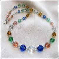 Czech Vintage Crystal Necklace Unique Rosalin Hues 1950s Jewelry $145