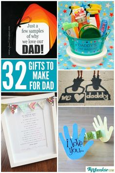 Awesome homemade Father's Day gifts for dad that the kids can make!