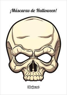 4 Máscaras de Halloween terroríficas para descargar - Dibujos.net