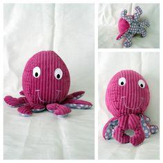 Doudou pieuvre du tapis à histoire de Petit poisson blanc Patron trouvé ici : http://www.plushiepatterns.com/oopsie-the-octopus-by-melly-me/