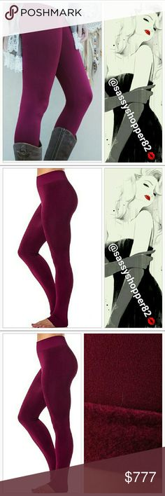 Spotted while shopping on Poshmark: Burgundy fleece lined leggings! #poshmark #fashion #shopping #style #Pants