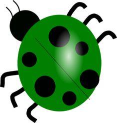 Green Ladybug clip art