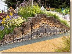 "gabions examples | Gabion wall in The ""Edible Trends"" garden"