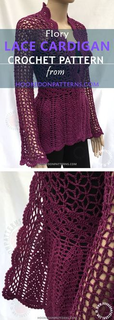 LACE CARDIGAN CROCHET PATTERN - A beautiful crochet cardigan for summer. This is my easy to follow cardigan crochet pattern.