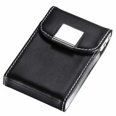 Letter F Visol Personalized Core Black Matte Business Card Case