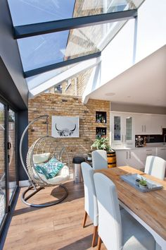 Extension Veranda, Rear Extension, House Extension Plans, House Extension Design, Extension Designs, Living Room Extension Ideas, Garden Room Extensions, House Extensions, Kitchen Diner Extension