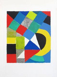 "DELAUNAY, Sonia/ ""arlequin"" litho ,1970, 43 x 50,8 cm"