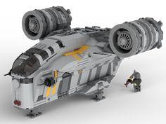 Razor Crest from The Mandalorian : lego models project Models Men, Lego Models, Lego Design, Star Citizen, Lego Star Wars, Legos, Nave Lego, Lego Mandalorian, Minifigures Lego