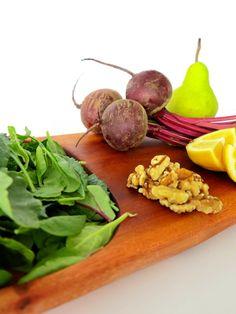 Food Friday: Roasted Beet Salad with Pears & Walnuts