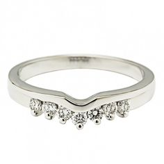 Ladies White Gold and Diamond Wedding Ring. A charming white gold wedding band, ideally shaped to fit perfectly next to your solitaire engagement ring. White Gold Wedding Bands, Diamond Wedding Rings, 7th Wedding Anniversary, Wedding Invitation Kits, Invitation Templates, Affordable Wedding Venues, Best Wedding Photographers, Personalized Wedding Gifts, Rings Online