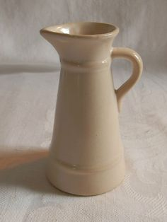 Perfect Little No-Name White Pottery Pitcher
