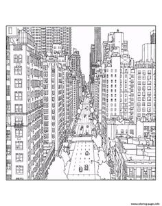 Print adult new york 1st avenue and east 60th street in manhattan source steve mcdonald coloring pages