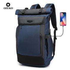 Roll Top, Flow Design, Waterproof Backpack, Rucksack Backpack, Going To Work, Travel Bag, Laptop Sleeves, Oxford, Usb