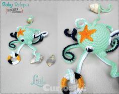 ★ Bébé pieuvre à grelot ★ Rattle Baby Octopus (au crochet) Cadeaux de Naissance original