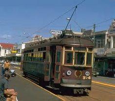 Adelaide Trams • The 'red rattler' tram at Glenelg • Adelaide's icons