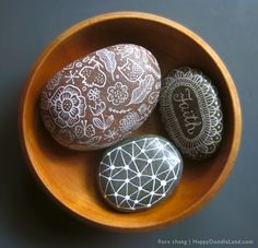 Rocks in a bowl   flora chang, Happy Doodle Land