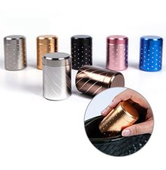10 pcs Mini Tea Leaf Tins, Coffee beans Tins, Candy Tins - Titanium Diamond Polka Dots Can - Party Wedding Favors - Containers