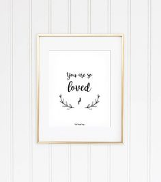 So Loved Printable baby Harry Potter quote nursery black