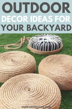 DIY Outdoor Decor To Spruce Up Your Backyard. Quick and easy DIY outdoor decor ideas to spruce up your yard. Get your yard ready for summer with these DIY outdoor decor ideas. These DIY projects will revamp your backyard and leave your neighbors jealous. Diy Outdoor Furniture, Garden Furniture, Furniture Projects, Diy Patio Furniture Cheap, Furniture Design, Teak Furniture, Furniture Refinishing, Woodworking Furniture, Repurposed Furniture