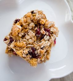 Weekend Snack Recipe: Walnut-Cranberry-Ginger Power Bars