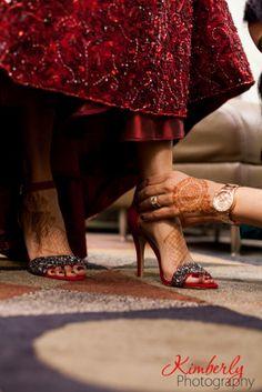 Pakistani wedding shoes, red shoes #wedding #shaadibazaar #weddingshoes photo by @kimberlyromano
