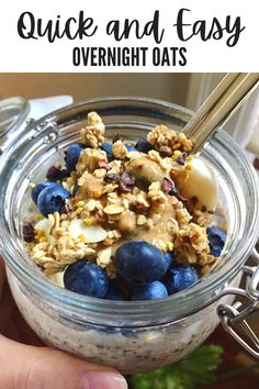 Make Ahead Breakfast, Healthy Breakfast Options, Nutritious Breakfast, Easy Overnight Oats, Cooking Recipes, Clean Eating Recipes, Meal Prep, Dairy Free, Simply Filling