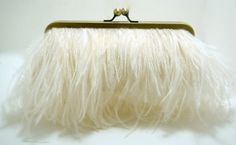 ostrich feather clutch for bridal accessories