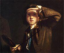 Joshua Reynolds (16 juillet 1723 – 23 février 1792), Autoportrait, 1748 Peintre britannique spécialiste du portrait. Il fut le premier président de la Royal Academy. Entre 1749 et 1752, il séjourne en Italie, principalement à Rome. Après son installation à Londres en 1753, il domine en Grande-Bretagne, avec son rival Thomas Gainsborough, l'art du portrait dans la seconde moitié du xviiie siècle.
