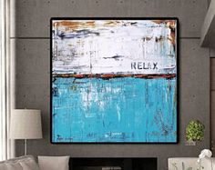 Art  Painting blue large abstract paintingcanvas artacrylic