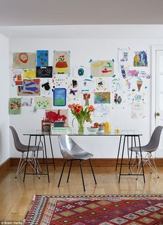 A gallery wall of th