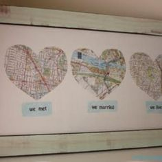 Mapping all the places where your heart goes... and framing it (:
