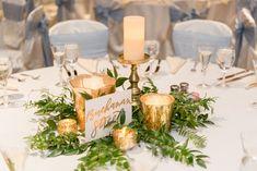 Candles and Greenery Centerpiece - Gold | Las Vegas Rio Secco Golf Course Wedding
