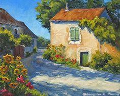 landscape painting southern france by Jennifer Young