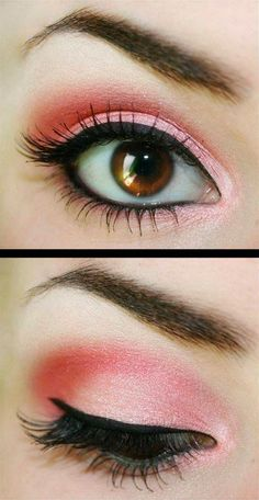 Coral with brown eyes